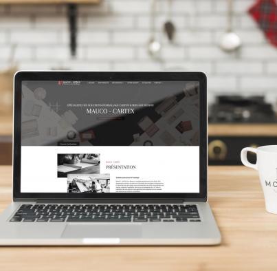 Dernière réalisation Ozanges : Mauco Cartex créateurs d'emballages, ont choisi Ozanges pour la création de leur site Web
